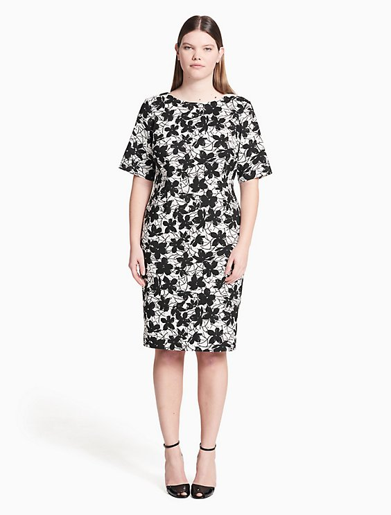 3242ed1522a Clearance plus size floral sheath dress