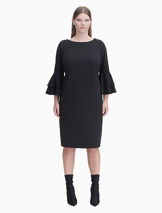 plus size tiered sleeve sheath dress | Calvin Klein