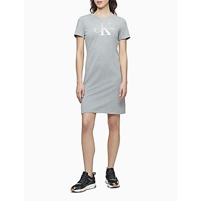 Metallic Monogram Logo T-Shirt Dress