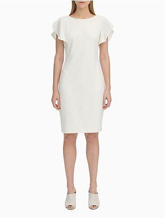 54524651994 Flutter Sleeve Sheath Dress