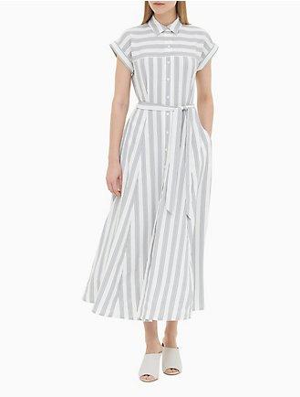 7b4505a49c3 Striped Belted Maxi Dress