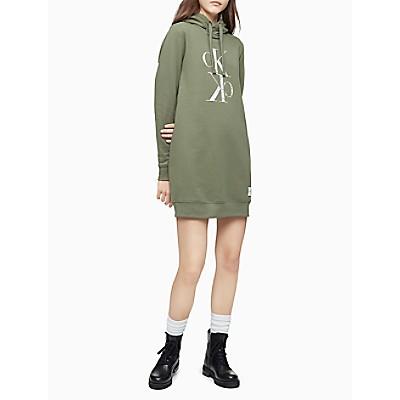 Distressed Mirror Monogram Logo Sweatshirt Dress