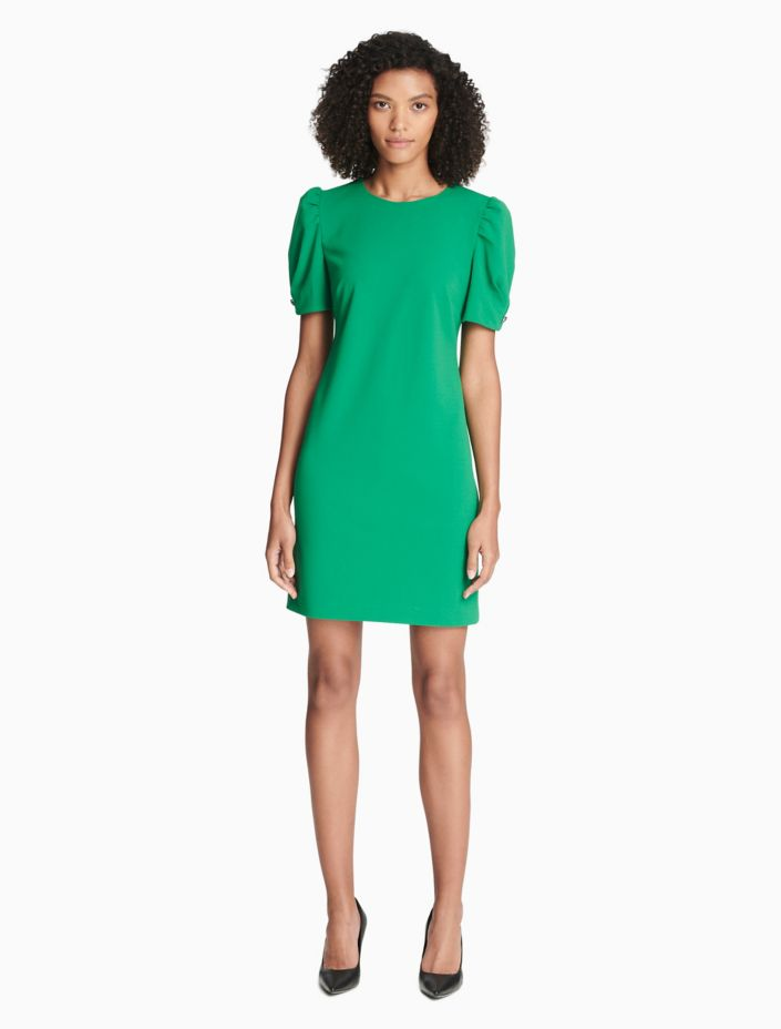 Puff Short Sleeve Dress by Calvin Klein