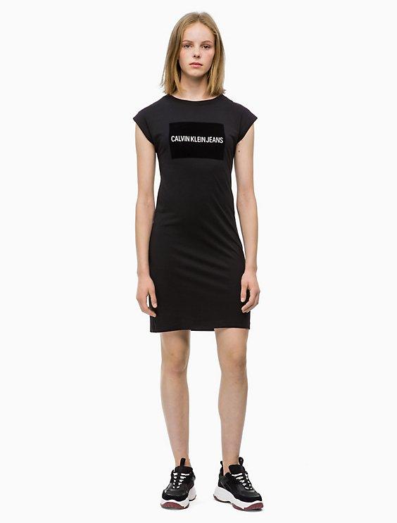 Logo Block Cap Sleeve Dress Calvin Klein