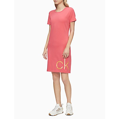 CK Logo Crewneck T-Shirt Dress
