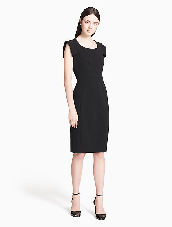 0ca9fa5f fold puff sleeve sheath dress | Calvin Klein