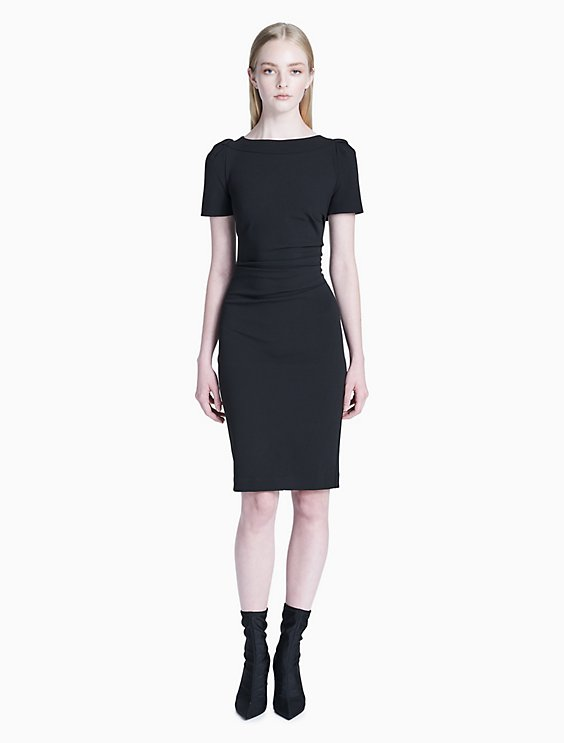 970dc7c1 Price as marked ruched short sleeve sheath dress
