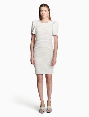 Puff Shoulder Dress