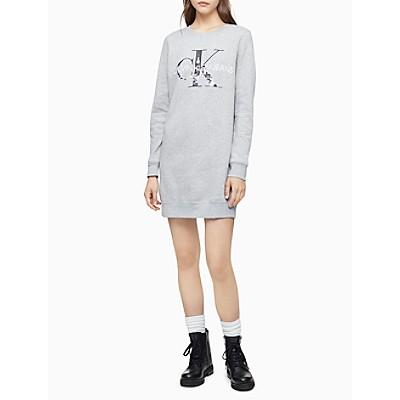 City Monogram Logo Sweatshirt Dress