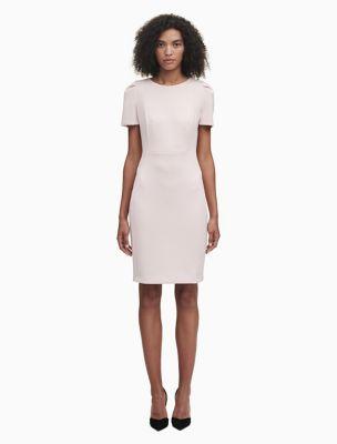 Short Sleeve Sheath Dress