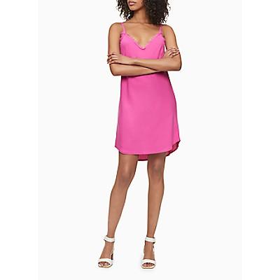 Frayed V-Neck Sleeveless High-Low Mini Dress