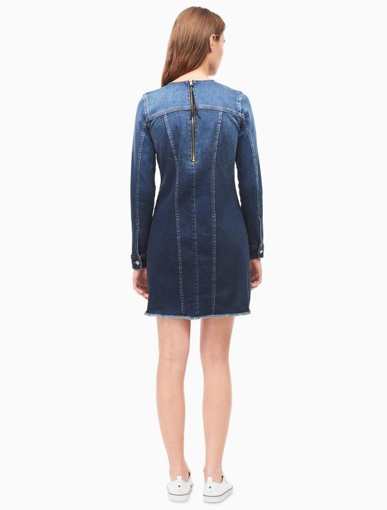 Logo Indigo Dress by Calvin Klein