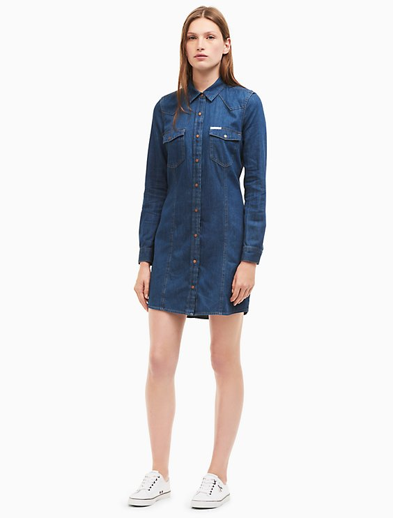 denim dress - Blue Calvin Klein Jeans h83tiS