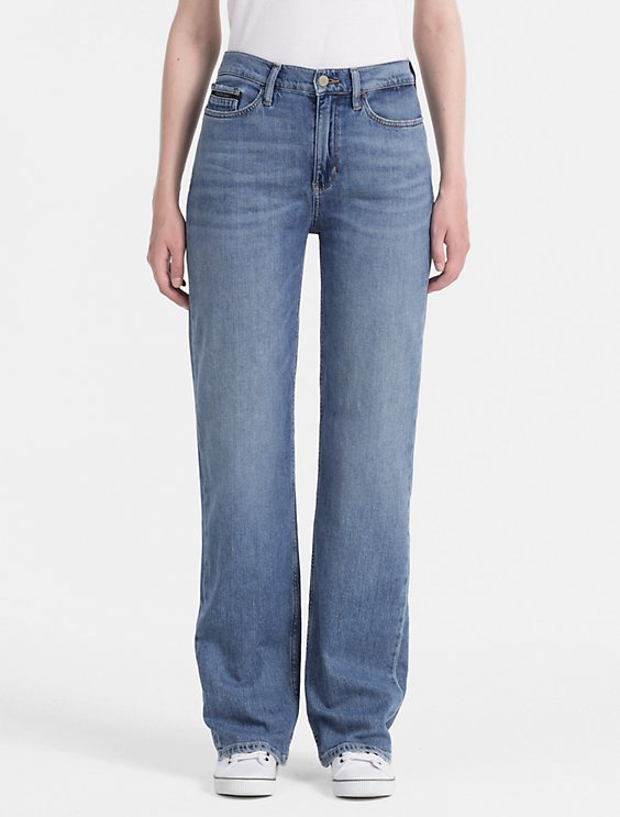 high waisted wide jeans - Blue Calvin Klein Jeans LLPHuTCuE