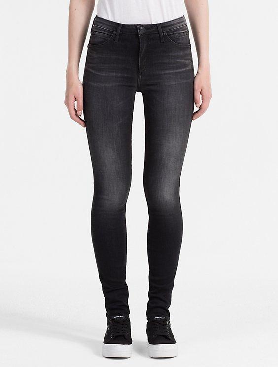 8a6ecb8c956d sculpted faded black high rise skinny jeans   Calvin Klein