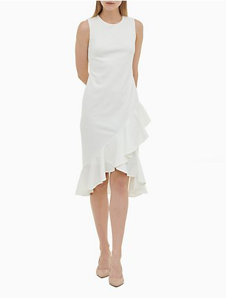 ac88bbca04c Ruffle Hem Sleeveless Dress