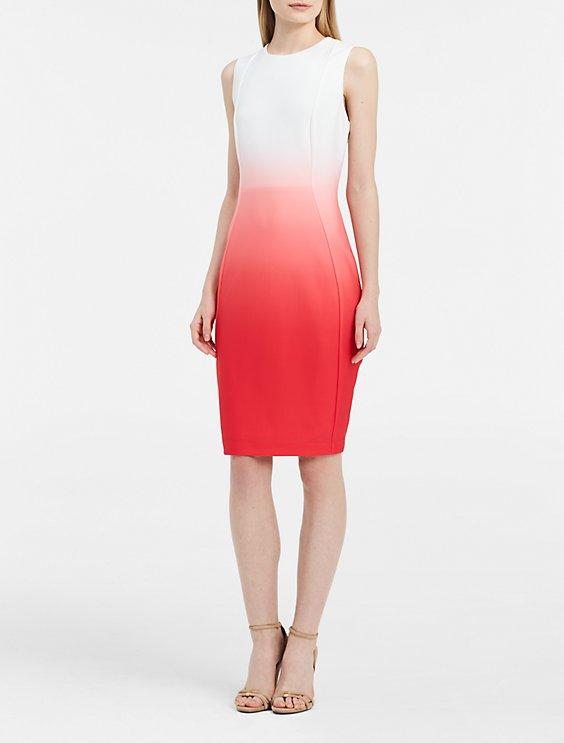 e27686c1 ombre sheath dress   Calvin Klein