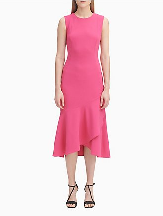 48f559e2da Ruffle Hem Midi Dress