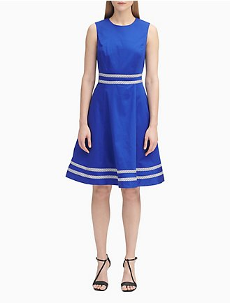 a6836be7231 Striped Cotton A-Line Dress