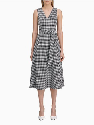 e56723e1162 gingham belted a-line dress
