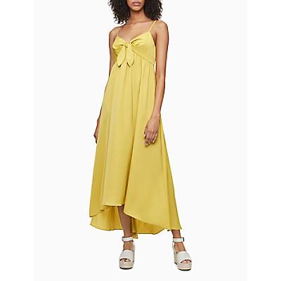 Solid Tie Front V-Neck Sleeveless Maxi Dress