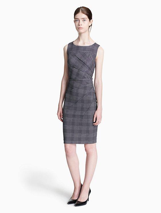 plaid starburst sheath dress   Calvin Klein