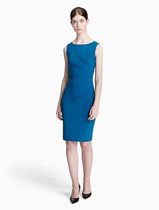 Calvin Klein Collection Midi Wrap Dress Outlet Pictures gCFsS