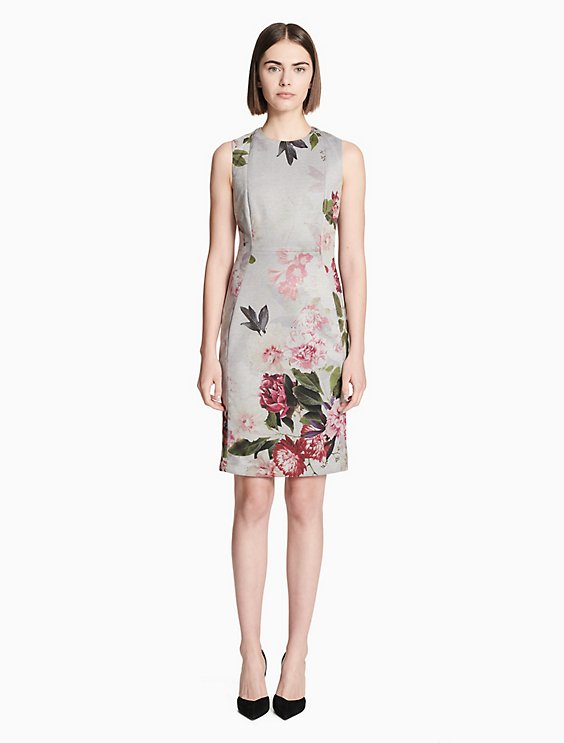 42796809c80f Final Sale floral sleeveless sheath dress