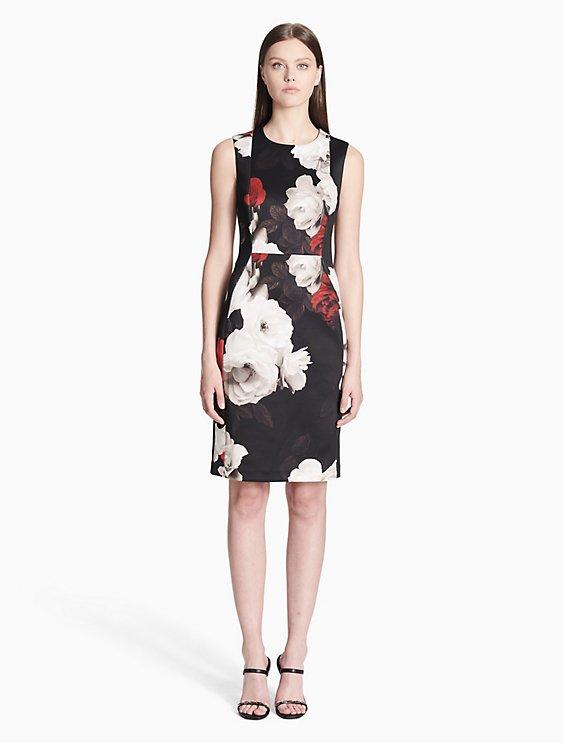 4413a74f58 Clearance floral scuba sheath dress