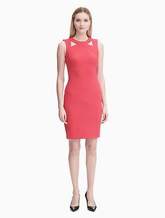 8648424bf7914a cut-out sheath dress