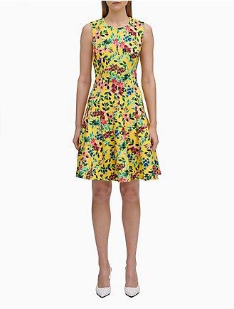 1f21d0d68ef Floral Print A-Line Dress