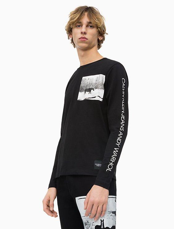 d3d4933e74928e warhol-landscape-long-sleeve-shirt by calvin-klein