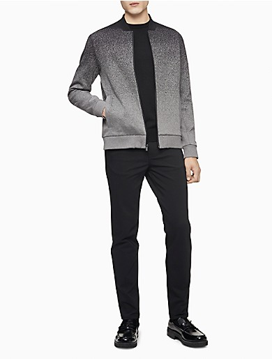 Image of Ombre Knit Bomber Jacket