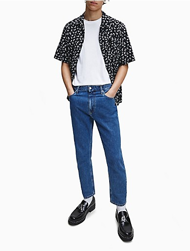 Image of Allover Print Relaxed Fit Short Sleeve Shirt