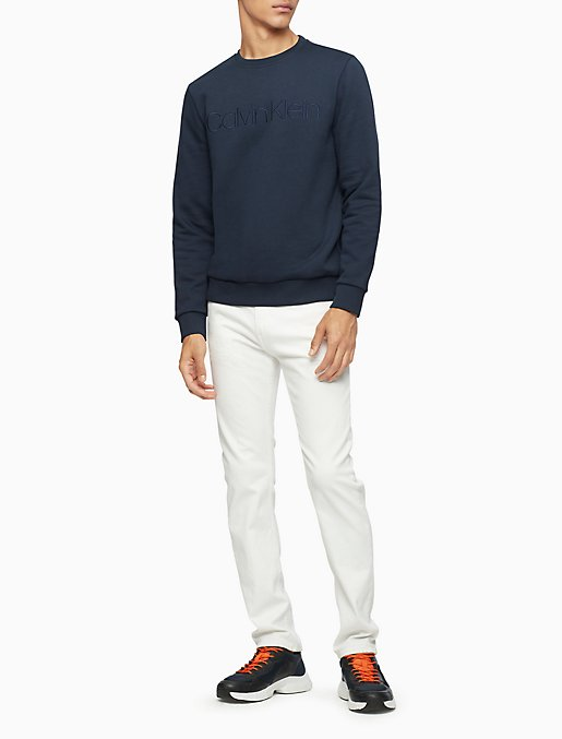 Regular Fit Tonal CK Logo Athleisure Sweatshirt | Calvin Klein