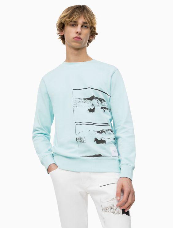 Warhol Landscape Crewneck Sweatshirt by Calvin Klein