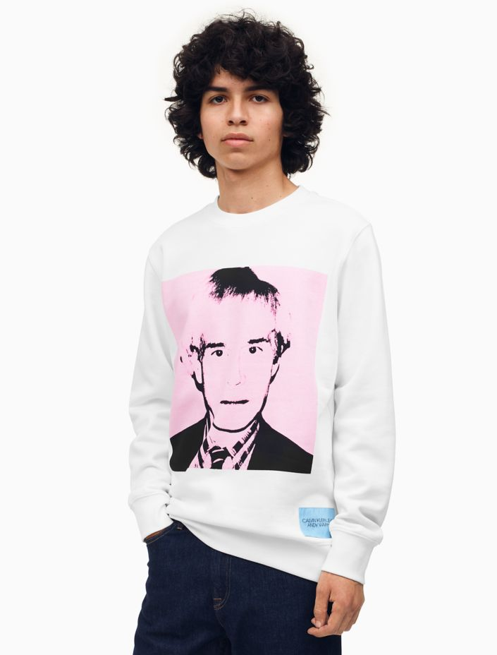 Warhol Portrait Regular Fit Crewneck Sweatshirt by Calvin Klein