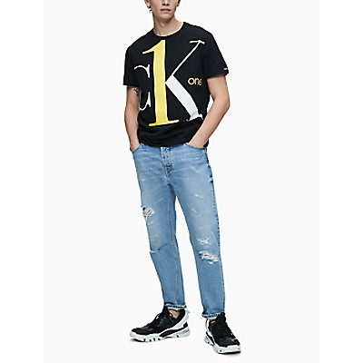 CK ONE Logo Graphic Regular Fit Crewneck T-Shirt