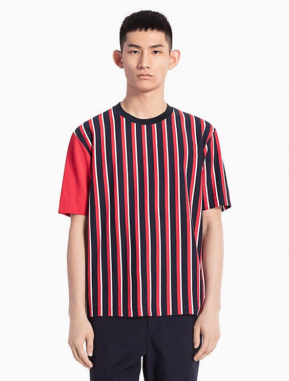 contrast stripe T-shirt - White Calvin Klein 100% Guaranteed Cheap Price Free Shipping Comfortable Eastbay Cheap Price Fast Delivery Cheap Price 92oEa