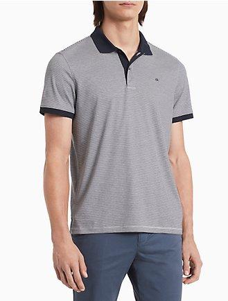 6e5b2c7511b5 new essentials regular fit liquid cotton feeder stripe polo shirt