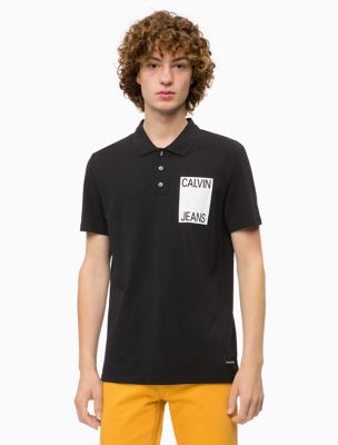 slim fit stacked logo polo shirt