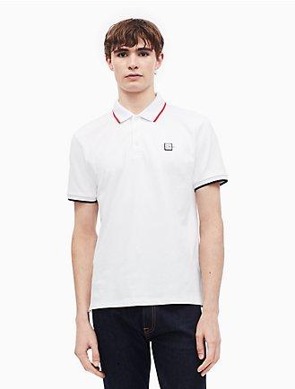 d72171cb1e regular fit striped logo polo shirt
