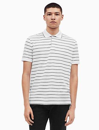 16a1e6935db regular fit pique auto stripe polo shirt