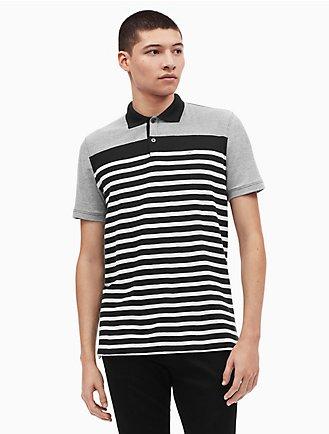 abd655a2052 regular fit pique oxford stripe polo shirt