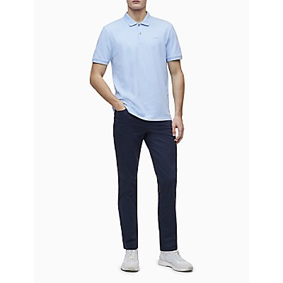 Regular Fit Solid Pique Knit Polo Shirt