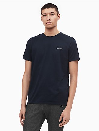 Calvin Klein Regular Fit Pima Cotton Crewneck Logo T-Shirt