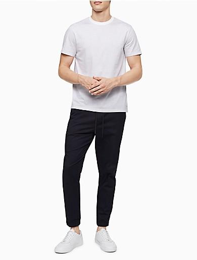 Image of Liquid Touch Grid Crewneck T-Shirt