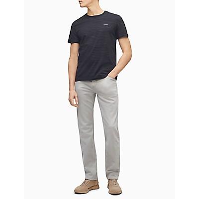 Spaced-Dyed Stripe Crewneck T-Shirt