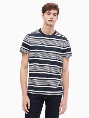 regular fit auto stripe crewneck t-shirt