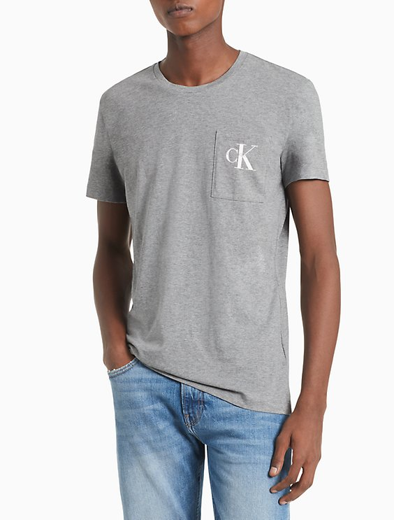 7988c2b64760 Slim Fit Monogram Pocket T-Shirt | Calvin Klein
